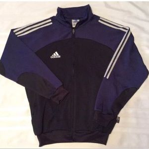 Men's Adidas Sz Sm Blue trefoil track jacket EUC
